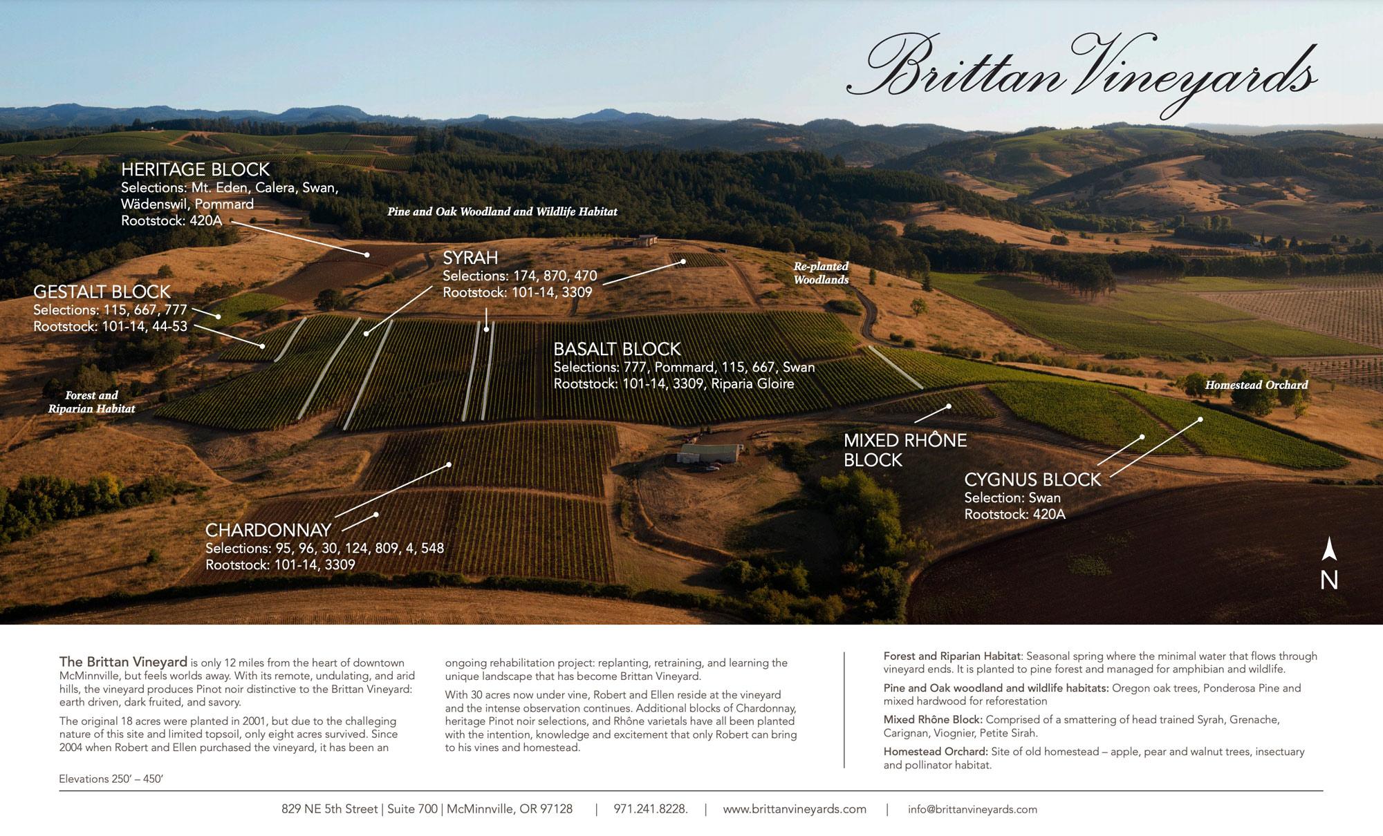 Brittan Vineyards map